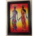 Tableau africain sur bois