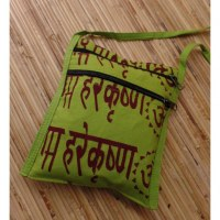 Sac passeport vert pomme sanscrit Aum