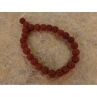 Bracelet mala pierre de lave marron