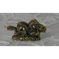 Statuette dorée dragon