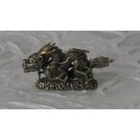 Statuette grise dragon