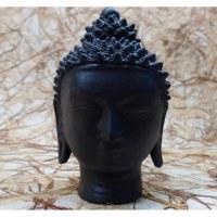 Tête Bouddha terre cuite