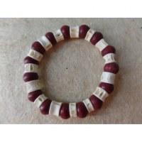 Bracelet surfeur perles bois et os