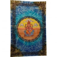 Tenture bleue Ganesh cercle