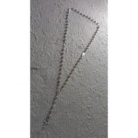 Chapelet perles argentées