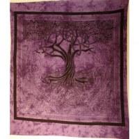 Tenture maxi mauve arbre de vie celtique