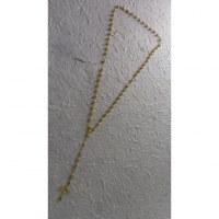 Chapelet perles ciselées dorées