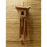 Nichoir carillon paillote carrée 1 entrée