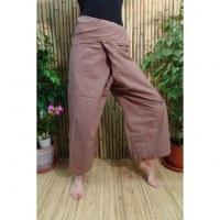 Pantalon de pêcheur Thaï marron basané