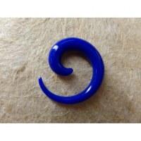 Elargisseur d'oreille bleu