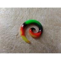 Elargisseur d'oreille spirale rasta