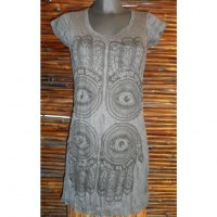 Mini robe anthracite 4 khamsa