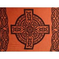 Tenture cercle celte orange