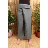 Pantalon de pêcheur Thaï gris bleu