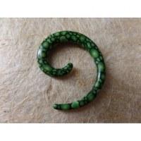 Elargisseur d'oreille vert spirale