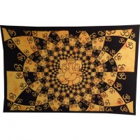 Tenture Ganesh lotus aum jaune