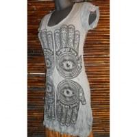 Mini robe grise 4 khamsa