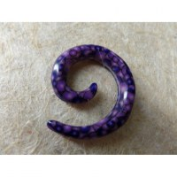 Elargisseur d'oreille violet spirale