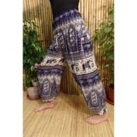 Pantalon Buriram bleu marine éléphants
