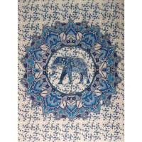 Tenture lotus haathee bleu