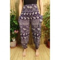 Pantalon Buriram violet éléphants