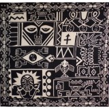 Maxi tenture patchwork stylafrica noir et blanc