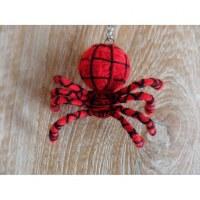 Porte clés araignée rouge
