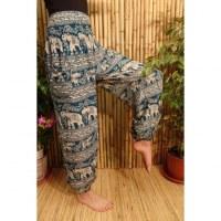 Pantalon Buriram turquoise éléphants 2