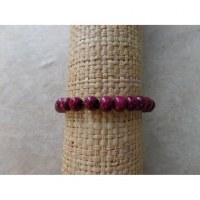 Bracelet élastique perles en bois cerise