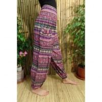 Pantalon Buriram violet cachemire