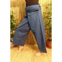 Pantalon de pêcheur Thaï bleu nocturne