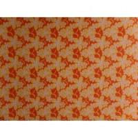 Petite tenture fleurs de frangipanier jaune/orange
