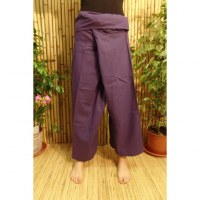 Pantalon de pêcheur Thaï pourpre