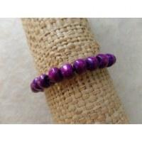 Bracelet élastique perles bois zinzolin