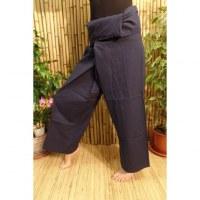 Pantalon de pêcheur Thaï bleu minéral