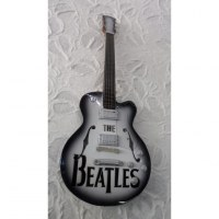 Guitare bicolore Beatles
