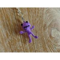 Porte-clés mini girl mauve