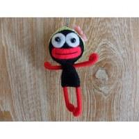 Porte clé poupée noire flower