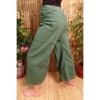 Pantalon de pêcheur Thaï olive