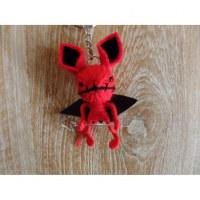 Porte clés chauve souris rouge