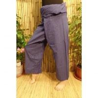 Pantalon de pêcheur Thaï bleuet