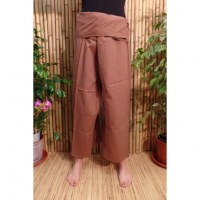 Pantalon de pêcheur Thaï café latté