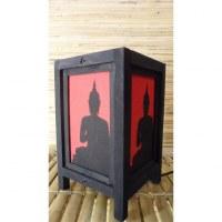 Lampe rouge ombre de Bouddha