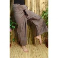 Pantalon de pêcheur Thaï café