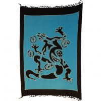 Mini tenture bleue lombok lézard tribal