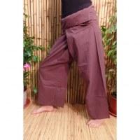 Pantalon de pêcheur Thaï chocolat noir