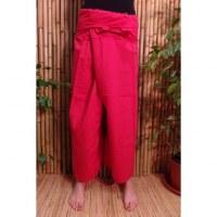 Pantalon de pêcheur Thaï coquelicot