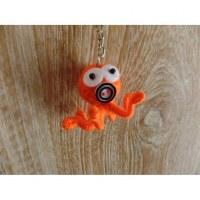Porte clés poulpe orange