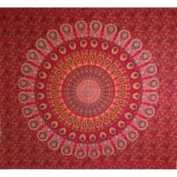 Tenture maxi rouge éventail floral