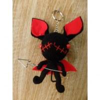 Porte clés big chauve souris noire